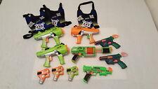 Lot of 10 Nerf Dart Tag Dart Guns Hyperfire  Furyfire Stormfire Eliminator +MORE