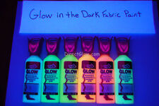 Tulip 6 Pack 1.25oz Assorted Glow in the Dark Fabric Paint Set