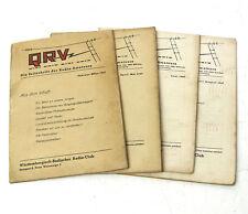 4x QRV, Die Zeitschrift / Mitteilungsblatt für Radio-Amateure, Jahrgang 1947!