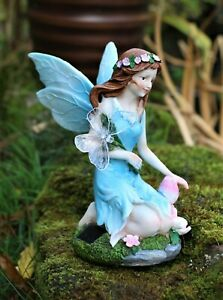 Garden Solar Ornament Cherub Fairy Angel Figurine Colourful Statue 24 cm Tall