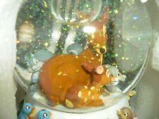 Disney Bambi Snowglobe Cantique De Noel - NEW No Box