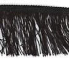 Black 150mm Cut Rayon Fringe, Sash Fringe, Fringing