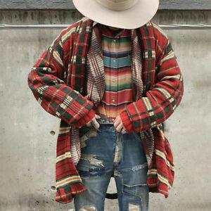 Mens Winter Warm Check Knit Sweater Cardigans Thick Outwear Coat Jumper Knitwear