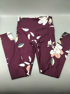 Athelta Purple Flower Capri Leggings - Size XXS - Cute! - C4