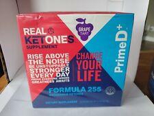 Real Ketones Prime D+ Grape Tart Formula 255 28 Servings OTG Packages 11/21 Keto
