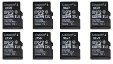 8 x Kingston 8GB Micro SD Memory Card SDHC Class 10 out of package