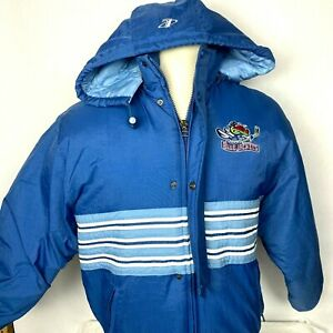 Columbus Blue Jackets Hockey NHL Hooded Coat Size Small Logo Athletic