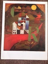 Paul Klee PRINT Rare Vintage 2003 Art Abstract Surreal Villa R Nature House