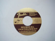 """Fender Speker label G&B 4"""""""