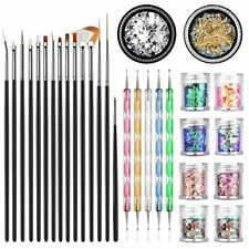 Professional Nail Art Supplies with 15pcs Brush Set, 5pcs Dotting Pen...