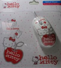 Hello Kitty USB 2.0 Mouse With Mouse pad For PC Laptop Notebook Windows 10 Ready