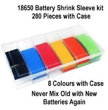 280Pcs 18650 Batería de 18500 Tubo De Calor Shrink Tubo de PVC Envoltura Kit 8 Color 18.5 mm