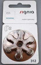 Siemens/ Signia Hörgerätebatterien 312er