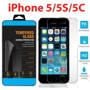 High Quality PREMIUM Real Tempered Glass Screen Protector For iPhone 5S 5C 5 New