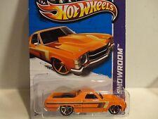 2013 Hot Wheels #233 Orange '71 El Camino w/Copper OH5 Spoke Wheels