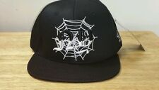 40 OZ NY SPIDERWEB Black White Spider WEB Snapback Mens Hat Cap Pyrex Trill Rare