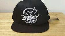 40 OZ NY SPIDERWEB Black White Spider WEB Snapback Mens Hat Cap Pyrex Trill Rare