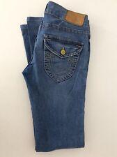 "True Religion Ladies Jeans, W28"" L32"", Denim Blue, Twisted Leg, Vgc"