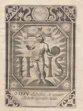 Gesù Incisione Santino Originale del 1600
