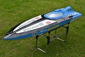 G30C 30CC Blue Fiber Glass Gasoline Racing ARTR RC Boat W/O Radio System Servos