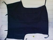 Ferrari Mondial Roof Sun Rain Cover T_Leather Quick Snap Straps_Black_NEW OEM