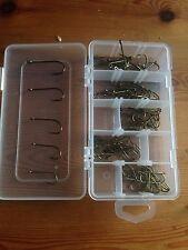 100 baitholder hooks 20x no2,no1,1/0,2/0,3/0 in a handy box