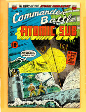 Commander Battle And The Atomic Sub #4 Golden Age Comic VG+