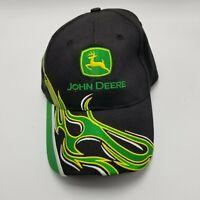 John Deere K Products Hat Cap Black Green Adult Used Strapback Tractors JD1