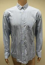 (Used) Mens West End By Simon Carter Long Sleeve Button Front Shirt Size:16 Slim