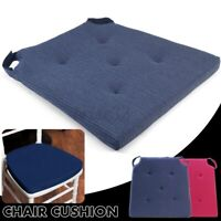 Chair Cushion Seat Pads Outdoor Tie On Garden Patio Removable Cover