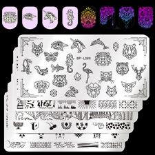 BORN PRETTY Nagel Stempel Schablonen Stamping Plates Nail Art Schablone Maniküre