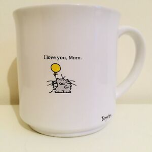 Vintage Sandra Boynton I Love You Mum Kitty Cat Tea Cup Coffee Mug Mothers Day
