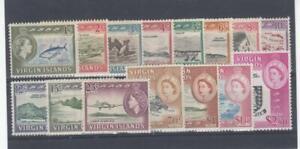 BRITISH VIRGIN ISLANDS # 144-158 VF-MNH/MLH CAT VALUE $86.95