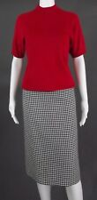 LeSUIT & DRAPERS RED-BLACK-WHITE SWEATER-SKIRT OUTFIT - SIZE 8
