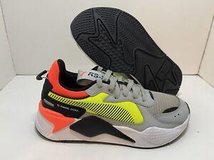 Puma RSX HardDrive Gray Yellow Neon Orange Low Sz 7Y Women's 8.5 370644_01