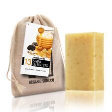 Certified Organic Shea Butter Honey Oats NonGMO Cold-Proces Soap All Natural 4oz