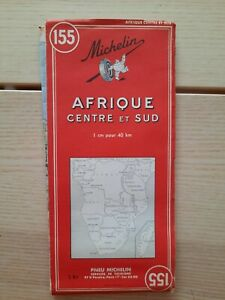 Vintage French Michelin Map of Africa: Central & South 1950's
