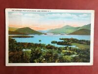 Vintage Postcard Narrows From State Road Lake George New York State Stamped 1931