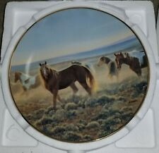"""Bradford Exchange 1992 Collector Plate #1 in Series """"Youngblood"""" Numbered, Coa"""