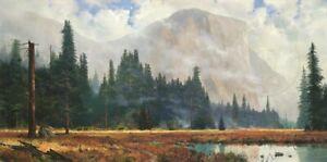 Thomas Kinkade Yosemite Meadow Artist's Proof on Paper 36x18
