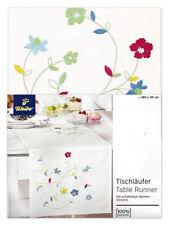 Details zu  TCM Tchibo Tischläufer Läufer Blumenstickerei Baumwolle