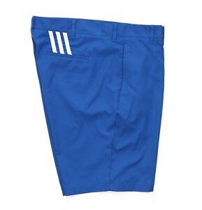 Adidas Men's Puremotion Stretch 3-Stripe Shorts Golf Shorts Blue Size 38