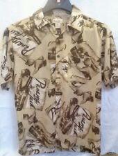 Men's Panama Jack Brown/Tan Button Down Short Sleeve Hawaiian Shirt size M