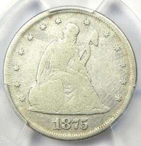 1875-P Twenty Cent Coin 20C - Certified PCGS VG Details - Rare Date 1875 Coin!