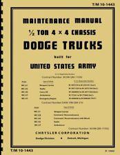 TM10 1443 ~ Half Ton Dodge WC ~ WWII ~ Maintenance Manual ~ Reprnt