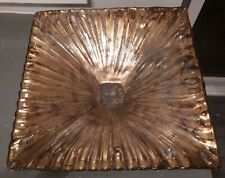 STUNNING CONTEMPORARY  LARGE GOLD DECORATIVE BOWL