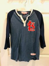 Mitchell & Ness Nostalgia Co St. Louis 3/4 Sleeve Blue Shirt Size Medium