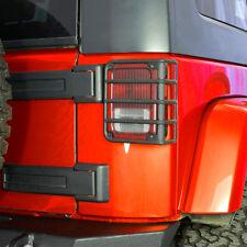 07-16 Jeep JK Wrangler Textured Black Metal Euro Taillight Lamp Guard Cover Set