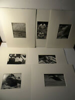 Lot of 17 Black White Rural Scenes Photographs Matted Signed 11 x 14 Matted