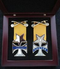 Civil War Custer Medals - General & Mrs. George Custer Medals - Free Wood Case